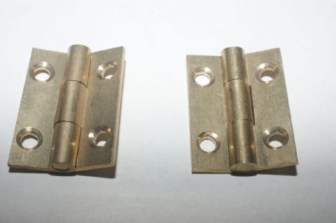 "1"" x 3/4""Solid Drawn Brass Butt Hinges"